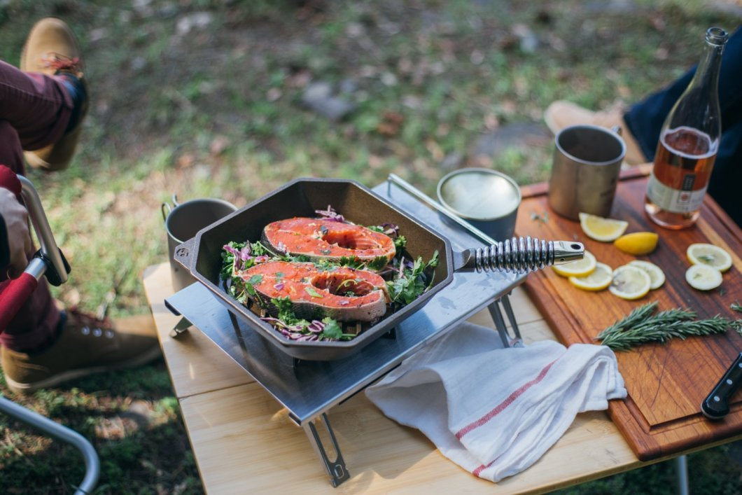Complete Your Grilling Kit With This Finex Cast Iron Grill Pan