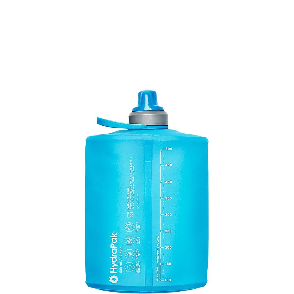 The HydraPak Stow Flexible Water Bottle Rolls Up When Empty