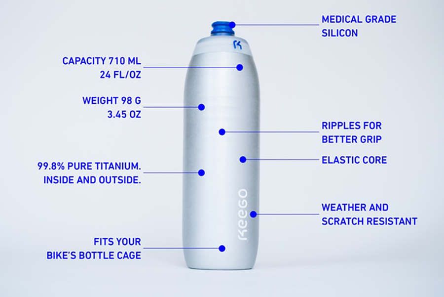 Keego is the World's First Elastic Metal Bottle
