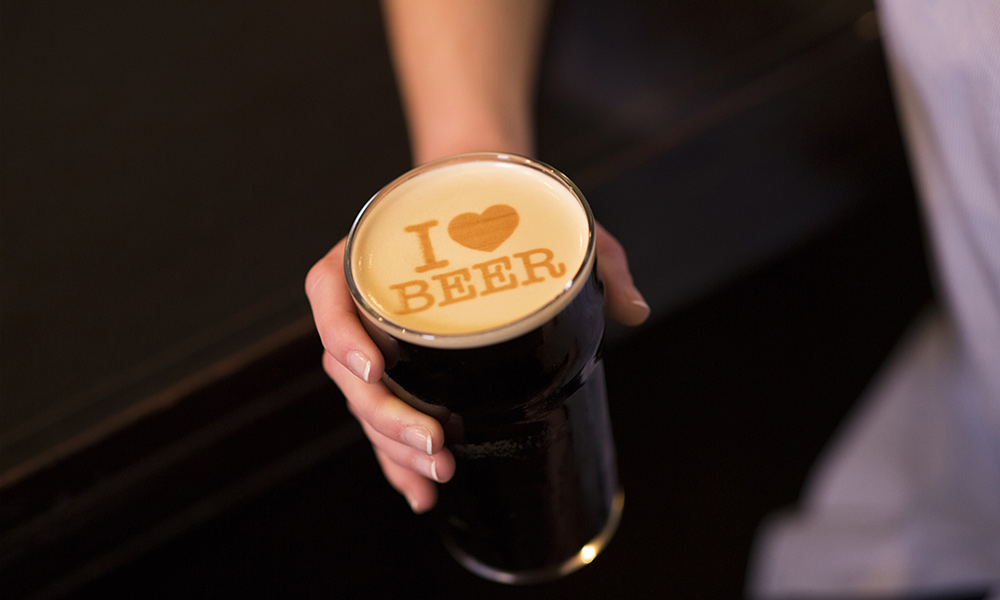 Beer Ripples Prints Messages In Your Beer
