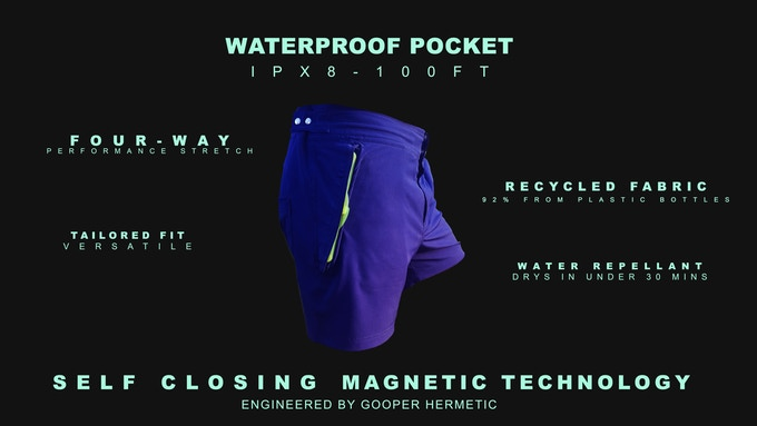 Meet Aquanautia, The Ultimate Adventure Shorts With Waterproof Pocket
