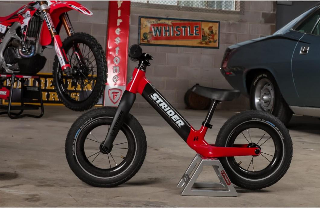 This Strider Carbon Fiber Balance Bike is Built For Kids