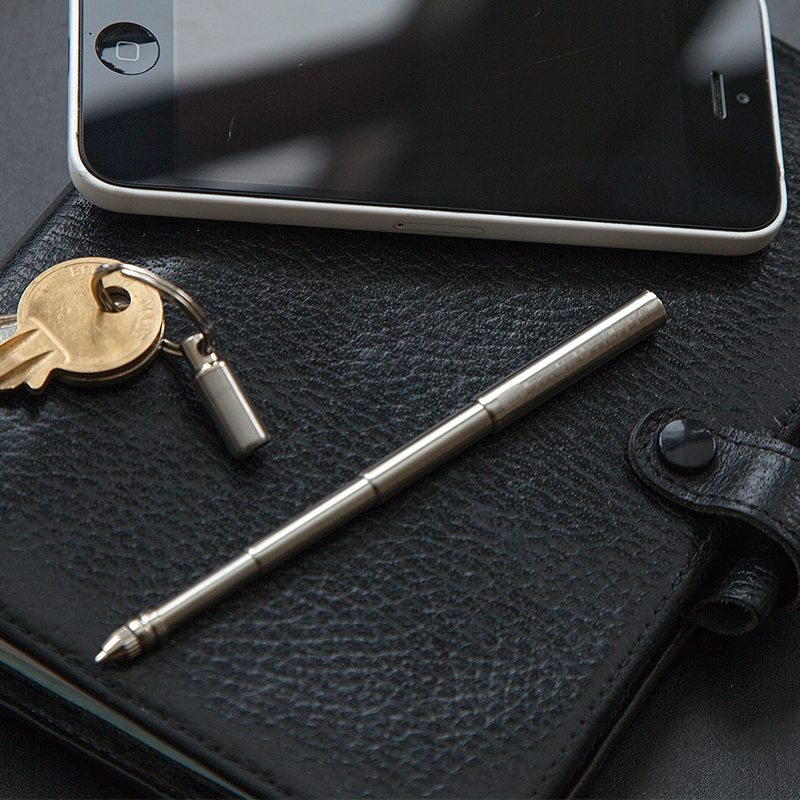 The Telepen Is The Smallest EDC Pen and Fits On Your Keychain