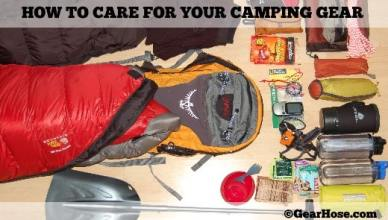how to care for your camping gear