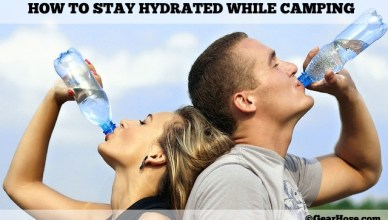 stay hydrated while camping