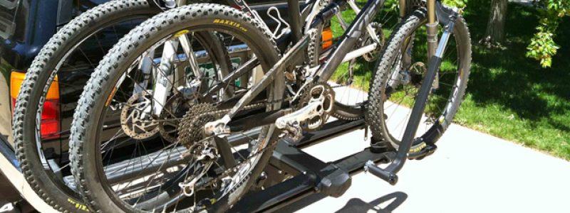 hitch mounted tray style bike racks