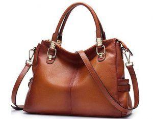 Womens Genuine Leather Handbag Urban Style Satchel Tote Bag