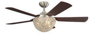 Parklake 52-in Brushed Nickel Downrod Mount Indoor Ceiling Fan