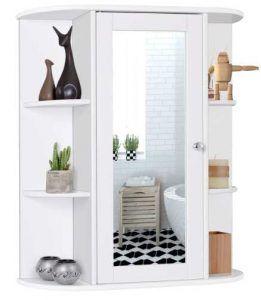 Tangkula Bathroom Cabinet, Single Door Wall Mount Medicine Cabinet