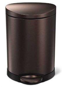 simplehuman 6 Liter / 1.6 Gallon Stainless Steel