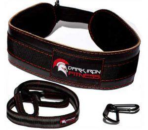 Dark Iron Fitness Leather Weight Lifting Dip Belt