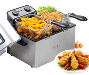 Secura Electric Deep Fryer 1800W Large Stainless Steel