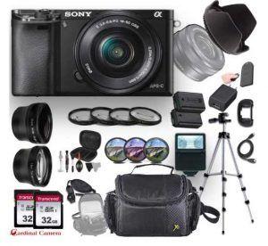 Sony Alpha a6000 (Black) E-Mount Mirrorless Camera