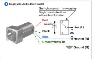 How To Connect a Reversing Switch to a 3 or 4Wire (PSC) Gearmotor | Bodine Electric Gearmotor Blog