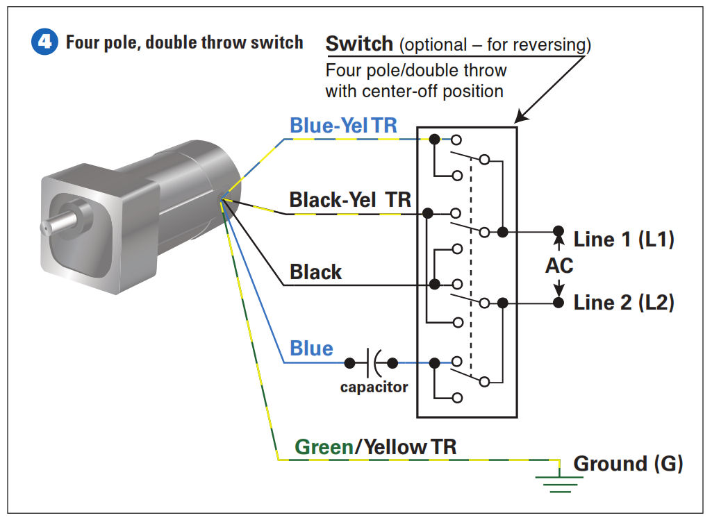 How To Connect A Reversing Switch To A 3- Or 4-Wire (PSC