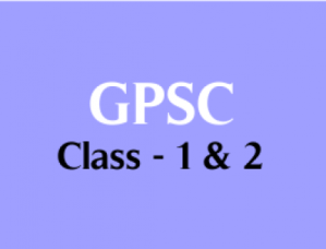GPSC Class 1 & 2