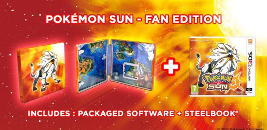 Pokemon Sun and Moon steelbook