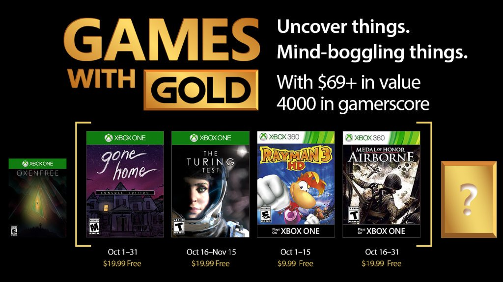 Xbox Live Games With Gold Free Games For October 2017 Revealed