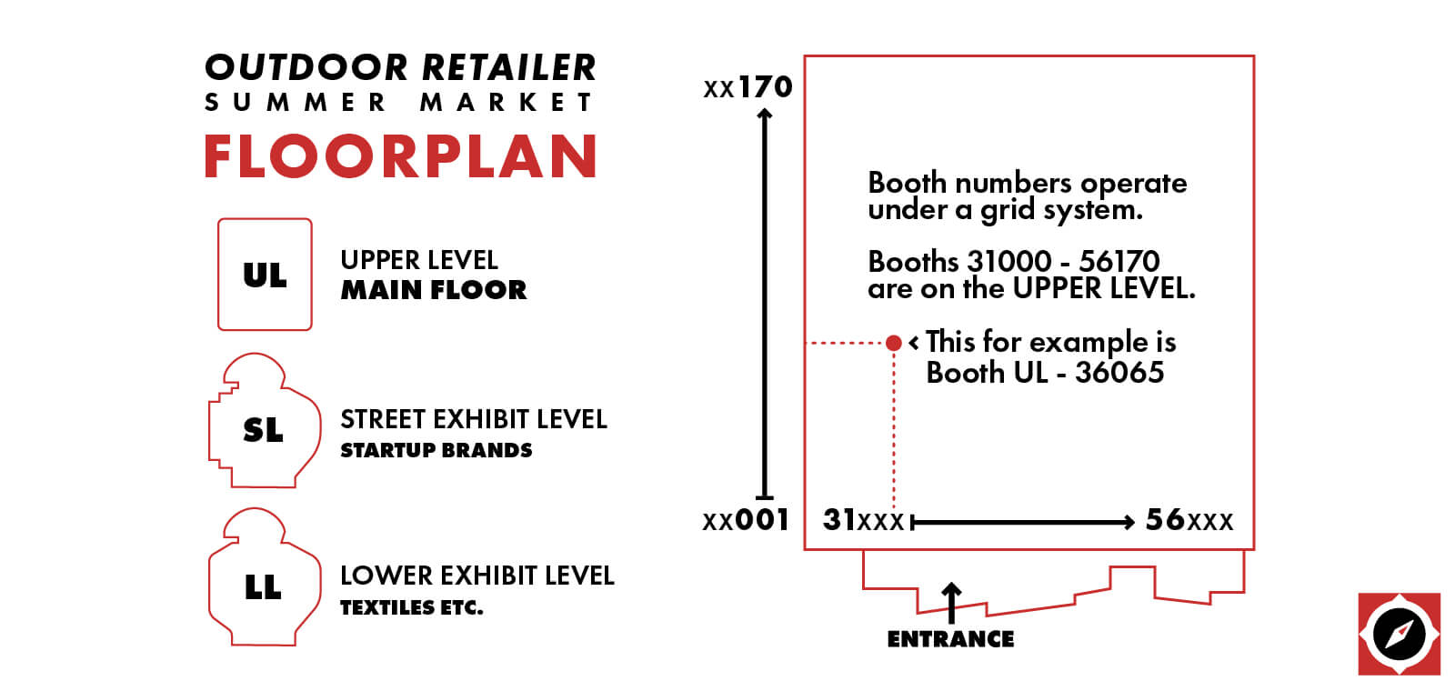 Outdoor Retailer Summer Market Floor Plan System
