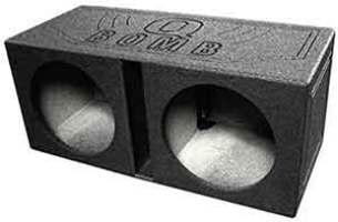 Q Power QBOMB12V Dual 12-Inch Vented Speaker Box