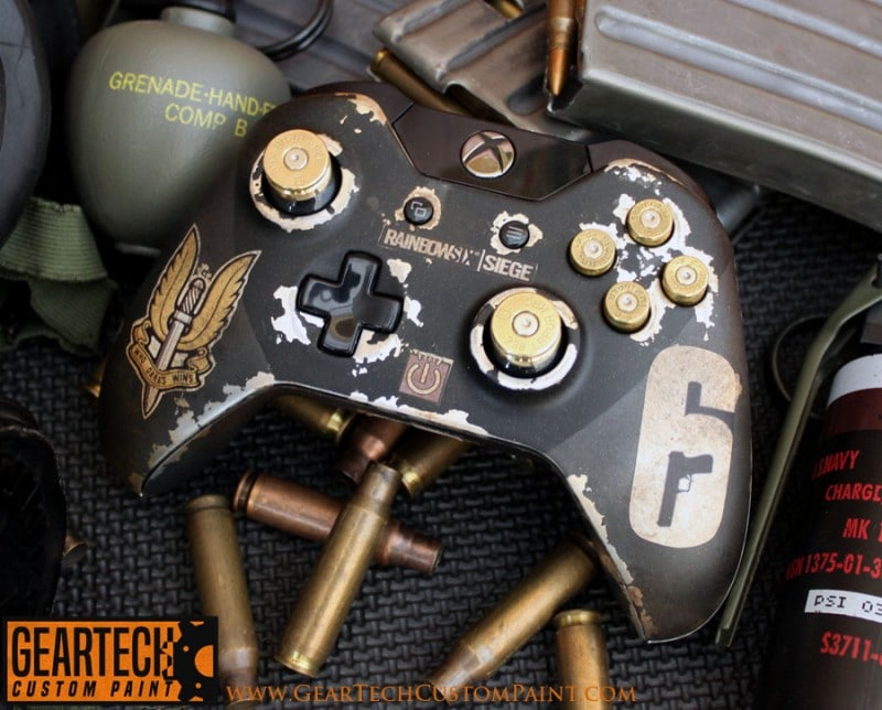Xbox One RB6 Siege SAS Custom Painted Shell GearTech