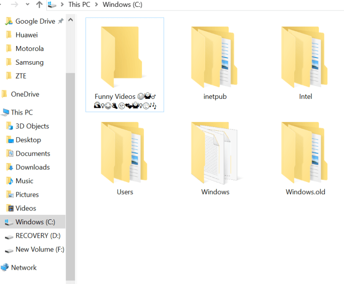 How to Insert Emojis in Files and Folders Names in Windows 10?