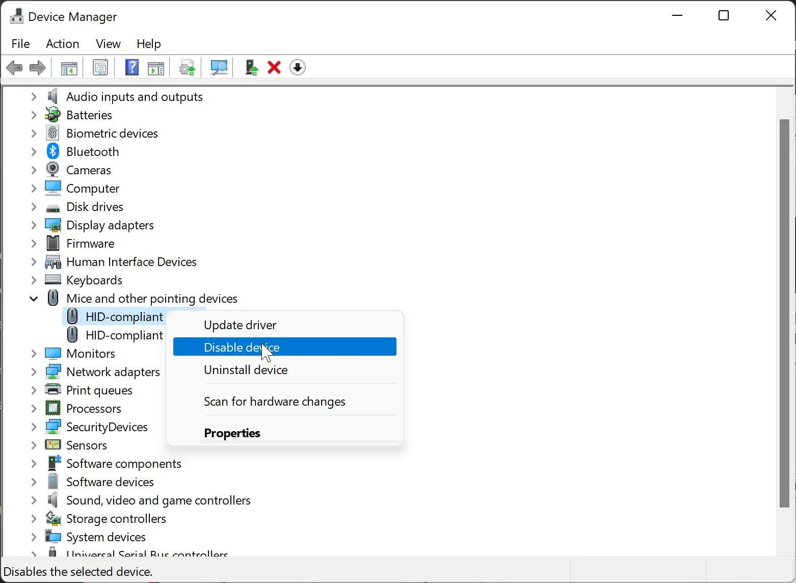 How do I Disable Touchscreen on Windows 11?