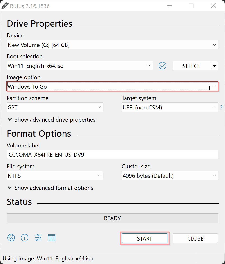 """How to Create a """"Windows to Go"""" version of Windows 11?"""