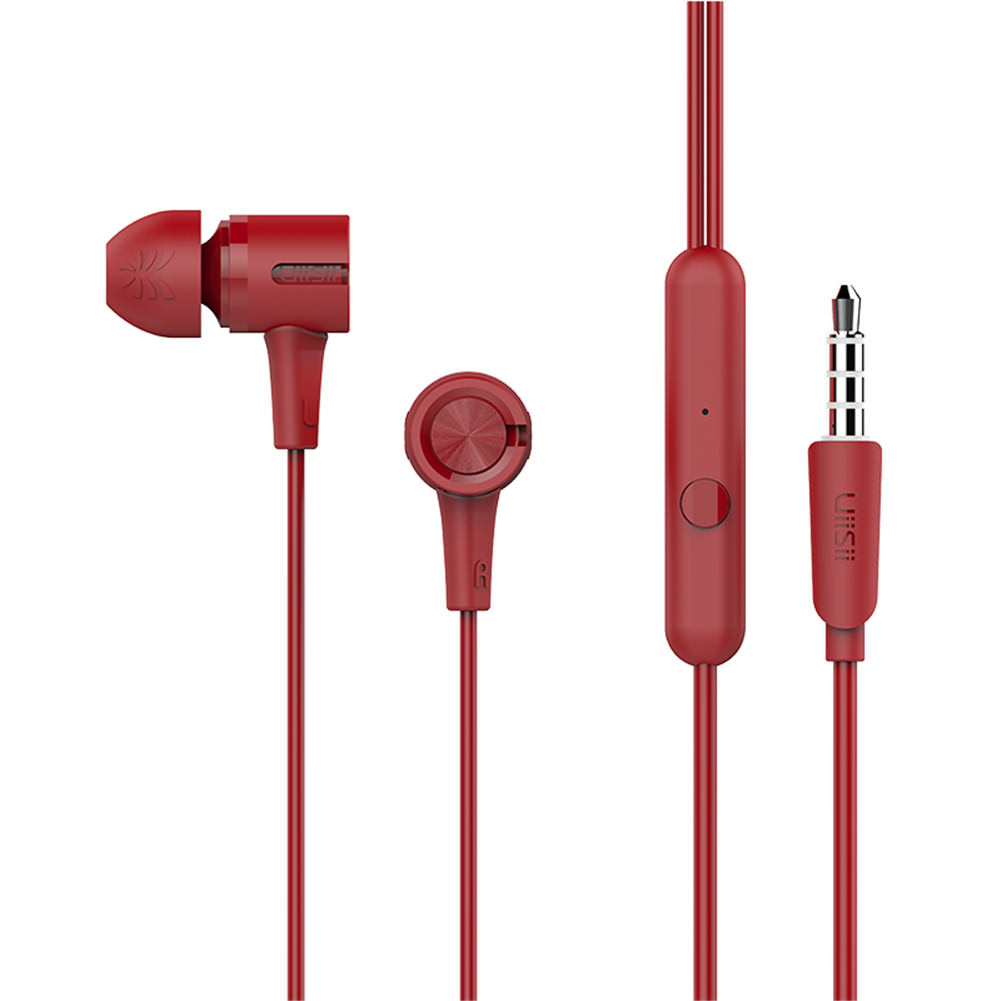 UiiSii U7 In-Ear Dynamic Driver In-ear Earphones with Mic -Red