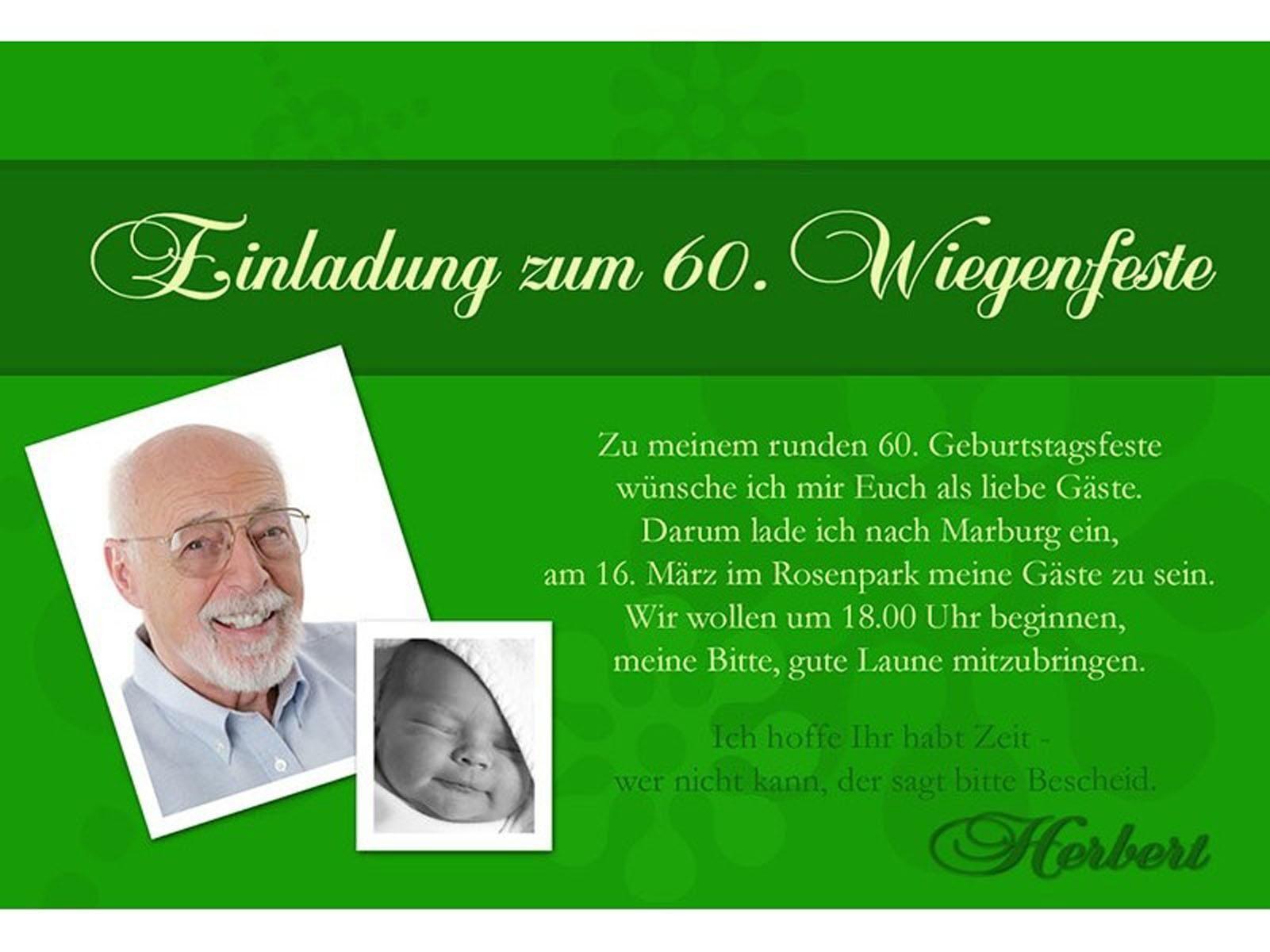 Einladung Geburtstag Einladungskarten Zum 60 Geburtstag