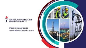 Israel Opportunity – Energy Resources