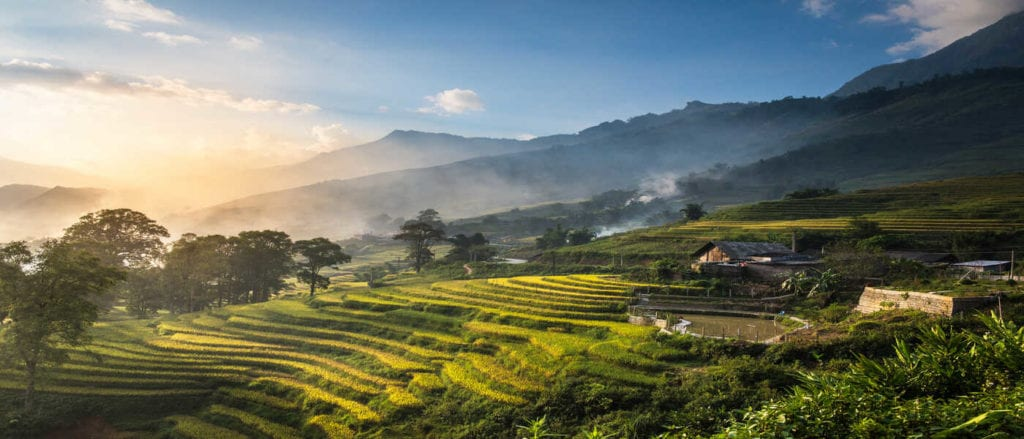 SaPa landscape Vietnam