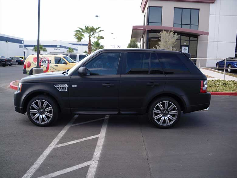 Matte Black Wrap LandRover GeckoWraps Las Vegas Vehicle Wraps
