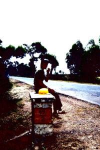 Doris 1983 Indien, Strasse nach Udaipur