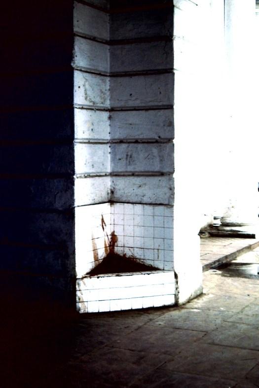 Spuckecke Neu-Delhi (c) 1983 Corinne I. Heitz