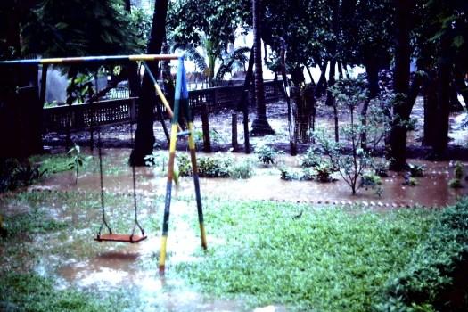 Monsun in Calangute, Indien (c)1983 Corinne I. Heitz
