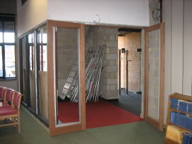 The new entrance to the sanctuary - awaiting glass from Europe