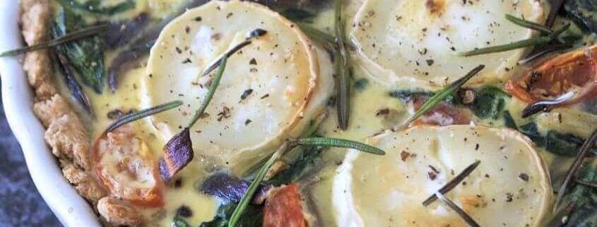 Spinattærte med frisk spinat og gedeost