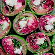 Spinatpandekager med fyld