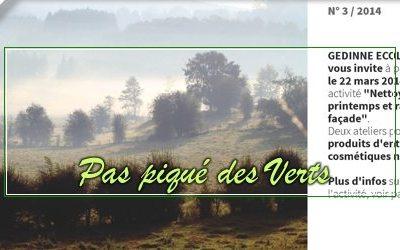 Pas piqué des Verts 03     Printemps 2014