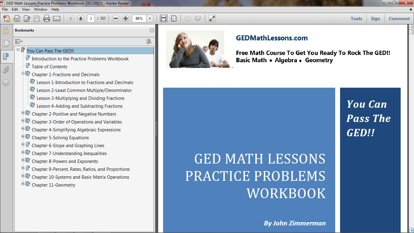 Free Ged Math Notes