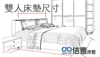 雙人床墊尺寸? (標準雙人?加大雙人床?特大雙人床是幾公分?)