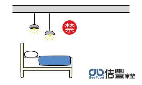 床上方有燈