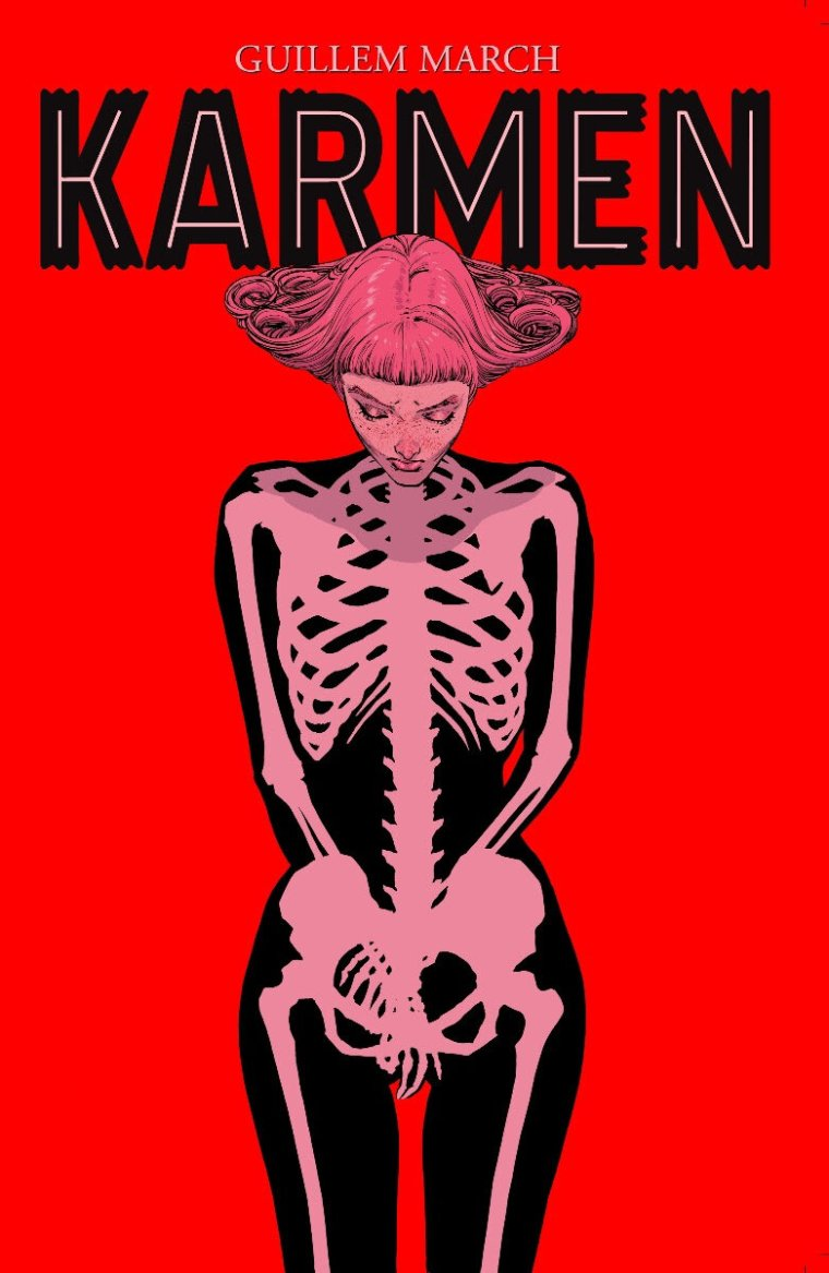 SYNOPSIS:     Karmen  is a provocative story that explores grief, suicide, and redemption told as a visual feast-for-the-eyes and featuring ethereal, fantastic artwork to set the tone.  Punctuated with humor,  Karmen  is the story of Catalina, a recent suicide, who is taken under the wing of the strange and quirky angel, Karmen, on a journey of discovery and reflection.