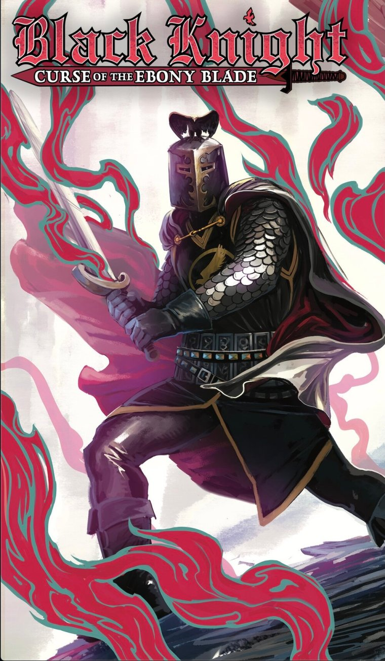 CURSE OF THE EBONY BLADE #1 (OF 5) - JAN210583   Written by SIMON SPURRIER  Art by SERGIO DÁVILA  Cover by IBAN COELLO  Legend of the Black Knight Variant Cover by STEPHANIE HANS - JAN210589   On Sale 3/17