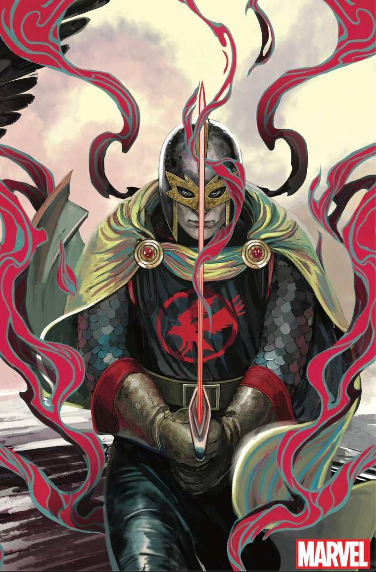CURSE OF THE EBONY BLADE #3 (OF 5)  Written by SIMON SPURRIER  Art by SERGIO DÁVILA  Cover by IBAN COELLO  Legend of the Black Knight Variant Cover by STEPHANIE HANS  On Sale 5/19