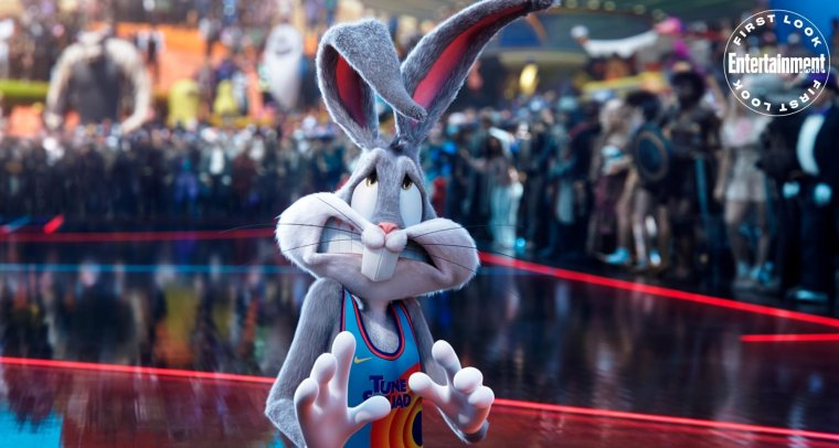 first photos from space jam a new legacy and new story details which includes lebron james passing through other wb films3