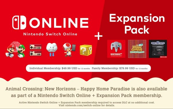 Nintendo Switch Online + Expansion Pass Price Revealed