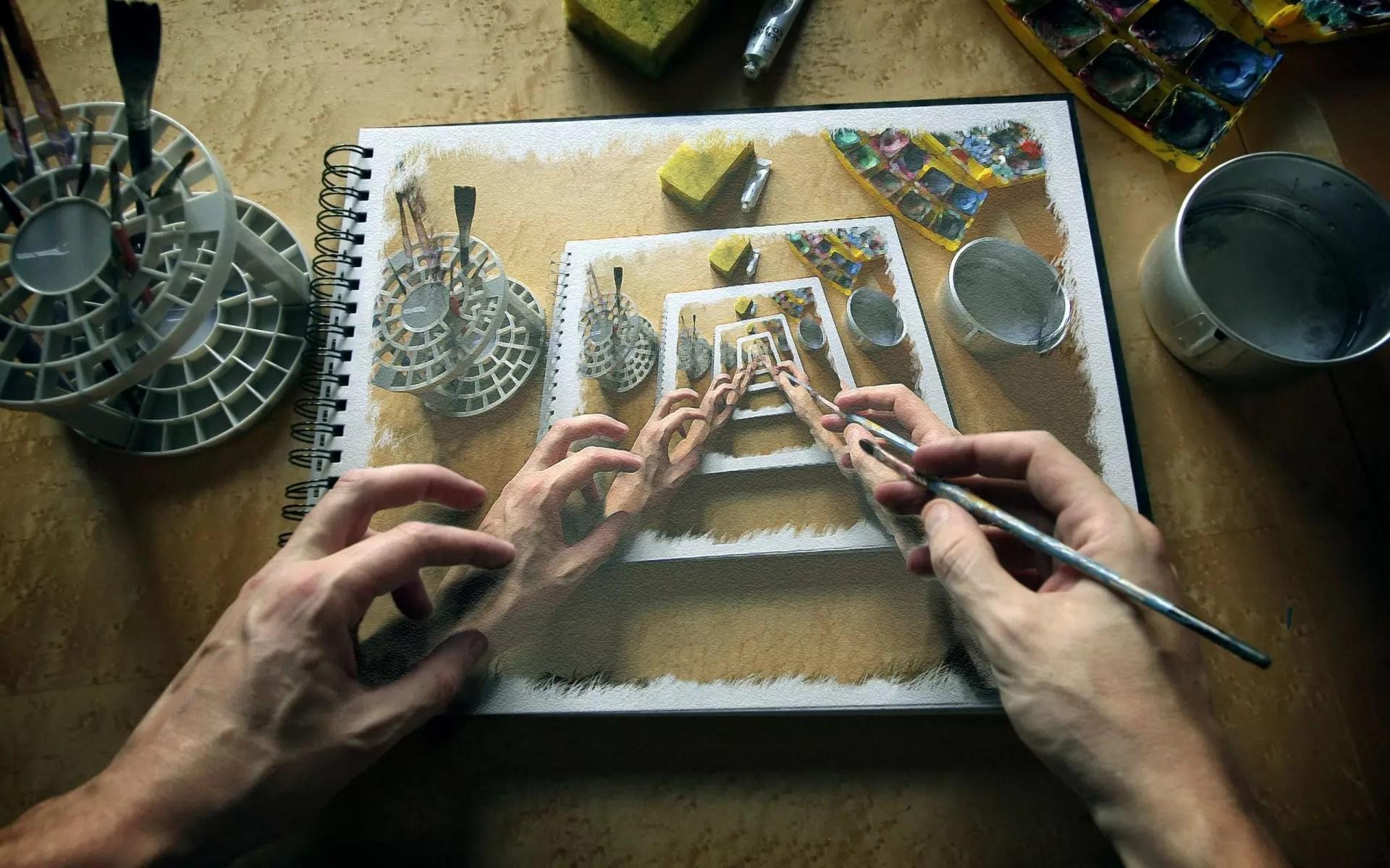 Você deve escolher a base, ou seja, uma imagem em que outro objeto será colocado. Isso pode ser qualquer coisa. Por exemplo, no Photoshop, você pode criar suas próprias fotos para anexar outras imagens ou inscrições a elas.