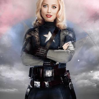 Amber Heard è Captain America